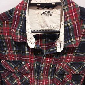 🌟Host Pick- Vans plaid flannel shirt-EUC